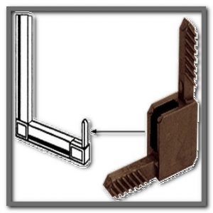 Bronze Square C-Sash Corners