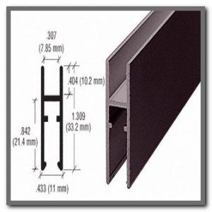 Bronze H Bar Shoe (accepts plunger lock)