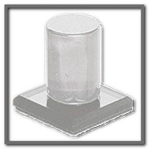 Clear Acrylic Stick On Knob