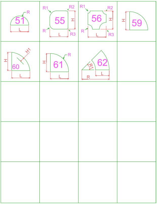 shapes 51-62