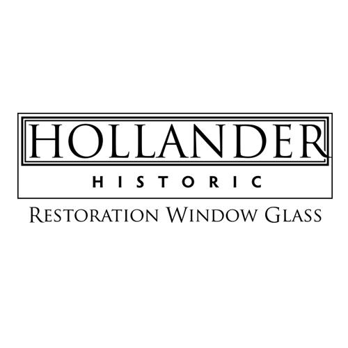 Hollander Historic Restoration Window Glass Logo