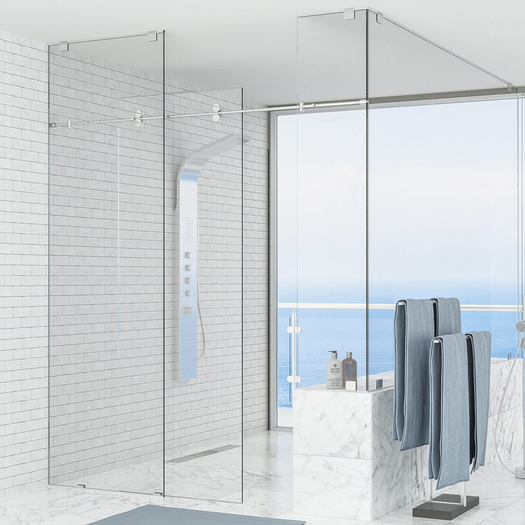 New Angle Beveling carries and fabricates ShowerGuard® Clear and ShowerGuard® UltraClear.