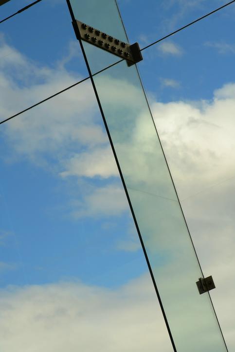 glass pane and sky